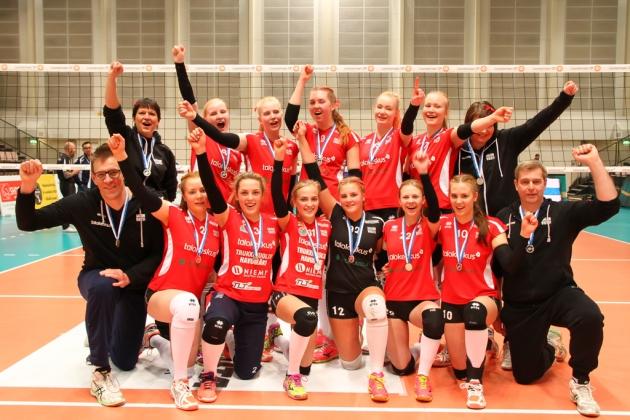 B-tytöt hopeaa 2016